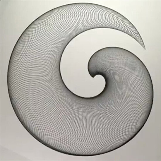 Spiral mekanik çizim
