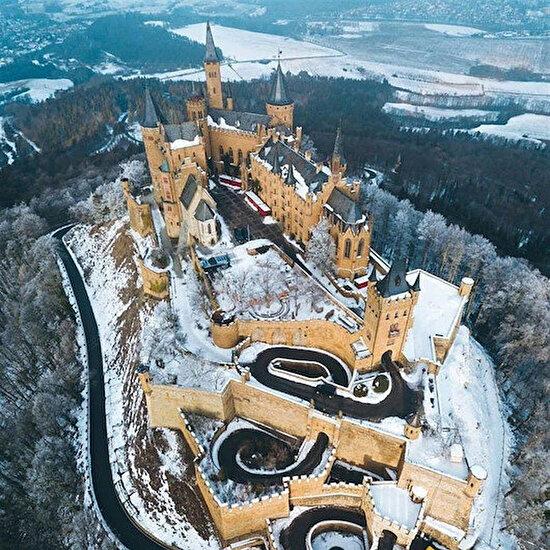 Hohenzollern Kalesi'nde kış