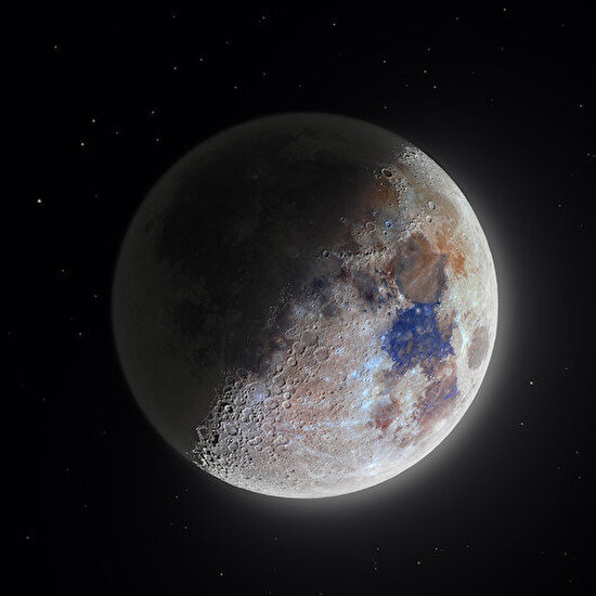 Dün gece Ay, tek kelimeyle büyüleyici