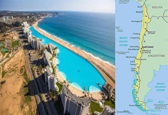 Şili'de tüm ülkeyi yüzme havuzu yapmışlar
