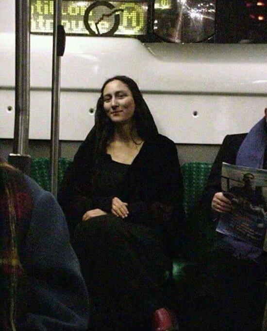 Mona Lisa bile metro kullanıyor