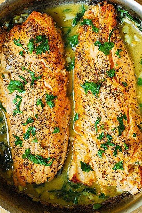 Fırında sebzeli balık yemeği