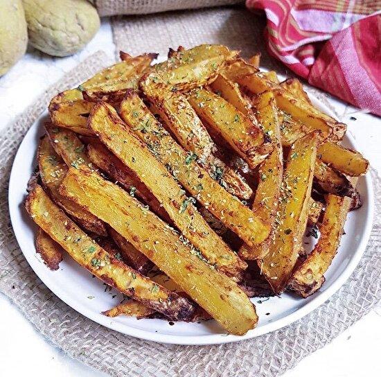 Daha sağlıklı bir tercih: Zeytinyağında kızartılmış kekikli patates