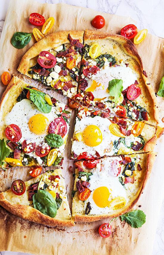 Kahvaltı pizzası