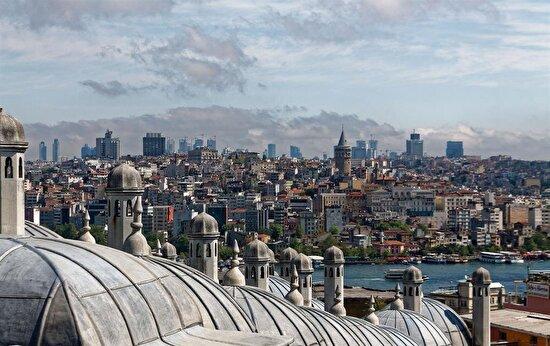 Süleymaniye'den şehre bakış, İstanbul, Türkiye