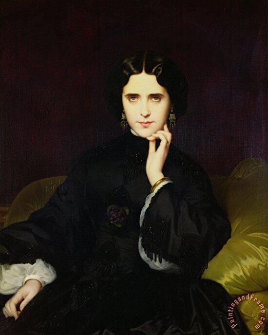 Gustave Flaubert'in bir pantere benzettiği Marie Anne Detourbay'ın portresi, 1862