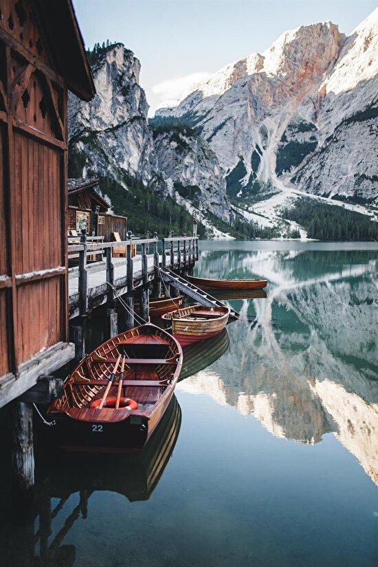 Lago di Braies, İtalya