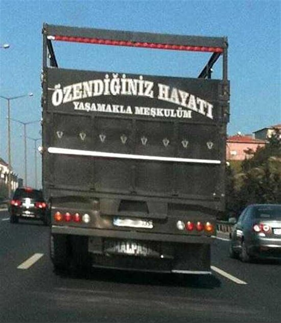 Böyle karizma kamyon görmedim