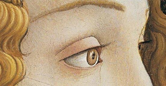 Sandro Botticelli, Genç bir kadının portresi detay, 1480