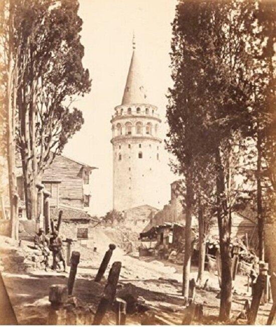 Galata Kulesi. İstanbul, 1857