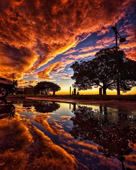 Avustralya'da gün batımı