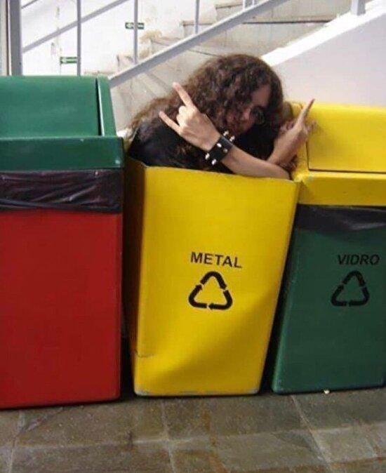 Çöp kutusunu en uygun şekilde kullanmış