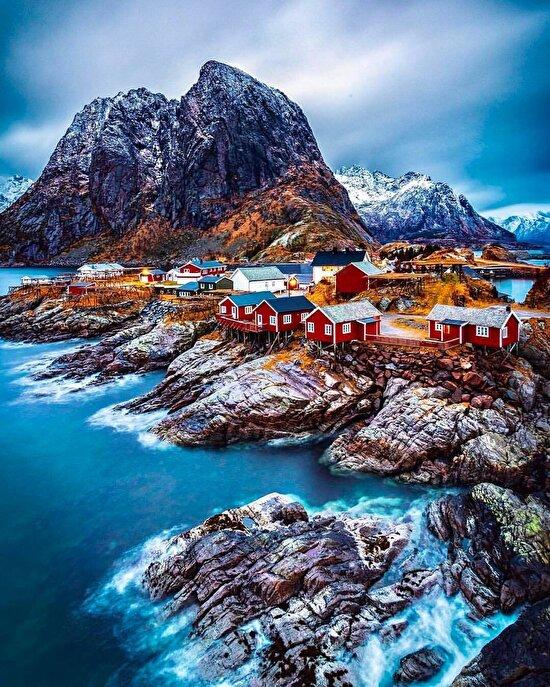 Norveç'te şirin bir köy