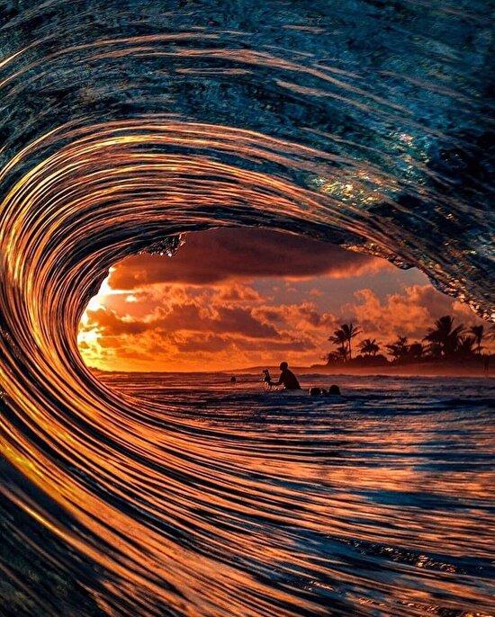 Hawaii Adaları'nda yakalanabilecek en muhteşem karelerden
