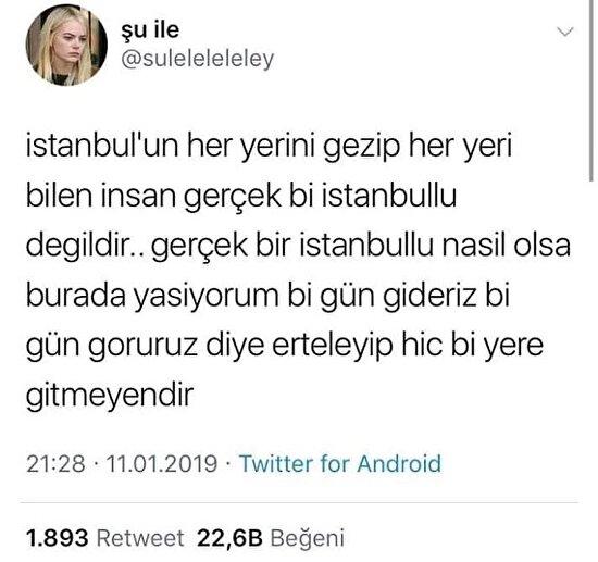 İstanbullu rahatlığı diye bir şey var