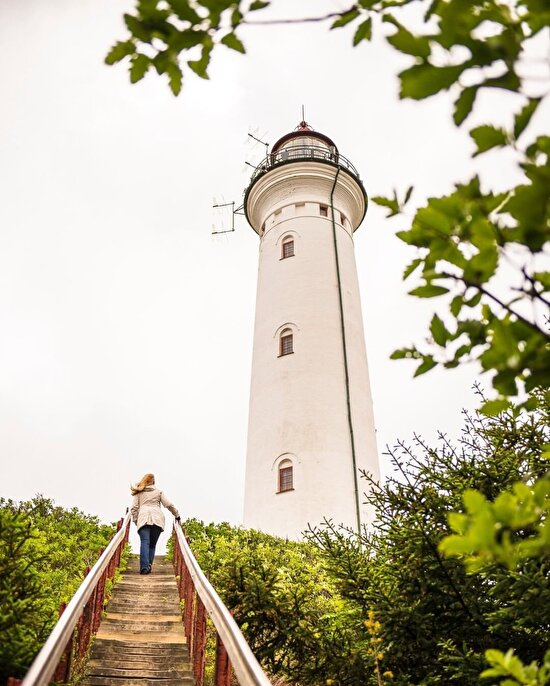 Danimarka'nın Kuzey Denizi'ndeki deniz feneri