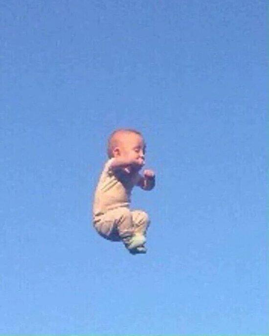 Uçan adam Sabri'nin çocukluk fotoğrafı