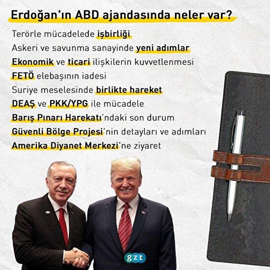 Erdoğan'ın ABD ziyaretinde hangi konular öne çıkıyor?