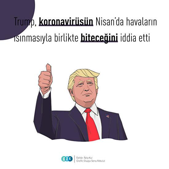 Trump'tan koronavirüs tahmini😷