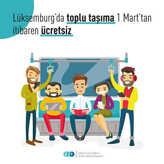Lüksemburg'da toplu taşıma 1 Mart'tan itibaren ücretsiz