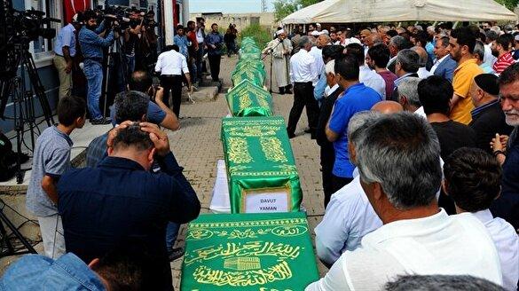 Dürümlü'de feryatlar eşliğinde 13 cenaze!