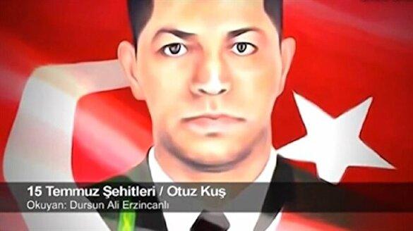 Dursun Ali Erzincanlı, şehit Ömer Halisdemir için şiir yazdı