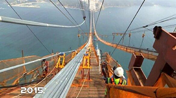 Yavuz Sultan Selim Köprüsü'nün yapımı anbean kaydedildi