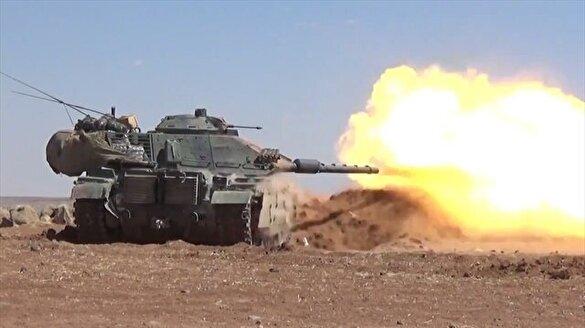 Suriye'de DAEŞ'i vuran tanklarımız böyle görüntülendi!