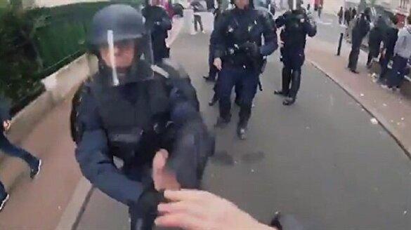Fransız gazeteciye polis şiddeti