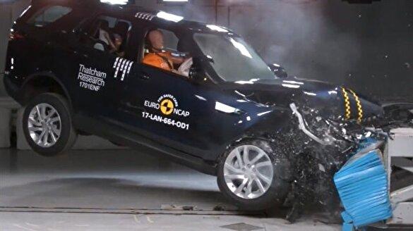 2017 model Land Rover çarpışma testinde