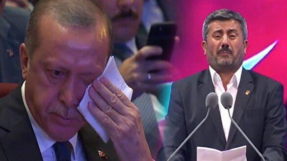 Şehit babasından Erdoğan'ı gözyaşlarına boğan şiir