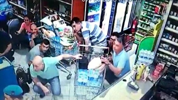 Akıncı Üssü pistinin bombalanması sırasındaki panik güvenlik kamerasında