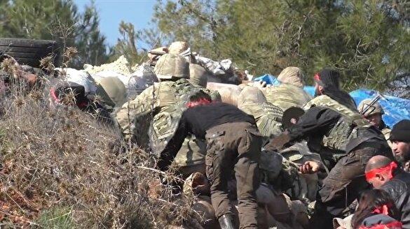 Burseya Dağı'nda sıcak çatışma anları kamerada!