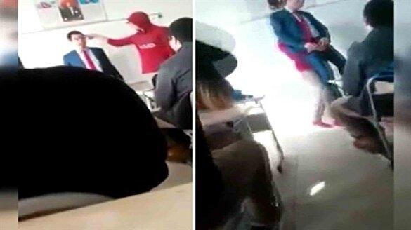 Öğrenci değil soytarı! Sınıfta çekilen skandal görüntüler kamerada