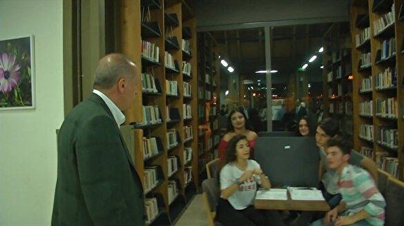 Kütüphane'de gençlerle Erdoğan'ın dikkat çeken diyaloğu
