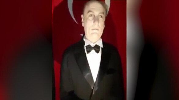 AVM'de Atatürk'e benzemeyen heykel