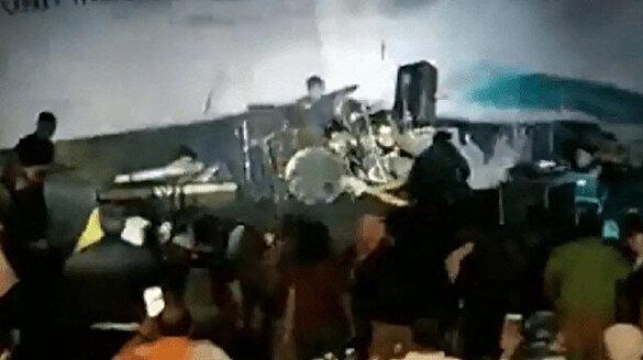 Endonezya'daki tsunamiden ilk görüntüler