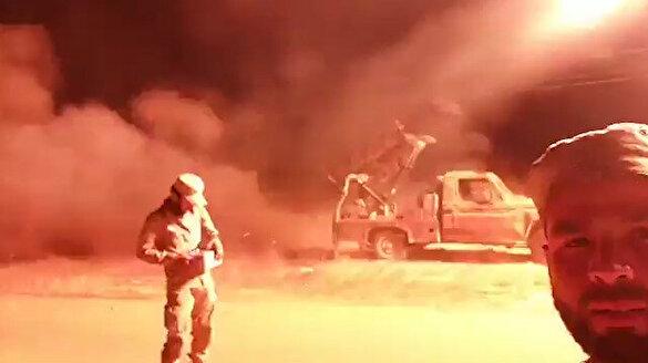 ÖSO grad füzeleriyle Esed rejimini böyle vurdu