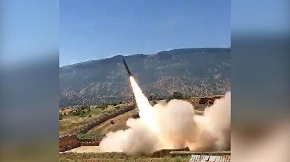 'Barış Pınarı Harekatı' kapsamında Tel Abyad'a gerçekleştirilen Koral atışı kamerada