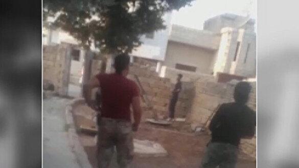 YPG/PKK'lı teröristler evlerden saldırıyor