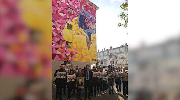 Kadıköy'deki Greta Thunberg grafitisi Eren Bülbül'ün resmi ile kapatıldı