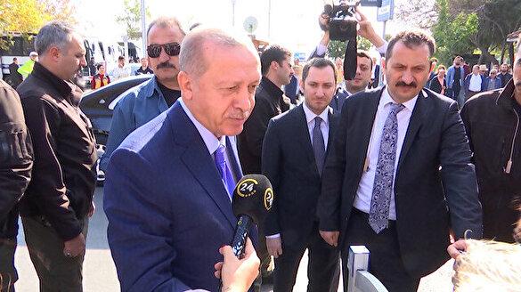 Cumhurbaşkanı Erdoğan'ın vatandaşla 'EYT' diyaloğu