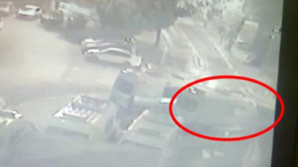 İstanbul Fatih'te ambulansın çalınma anı güvenlik kamerasında