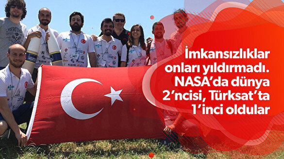 NASA'da dünya 2.'si Türksat'ta Türkiye 1.'si olan Grizu 263 ekibinin başarı hikayesi