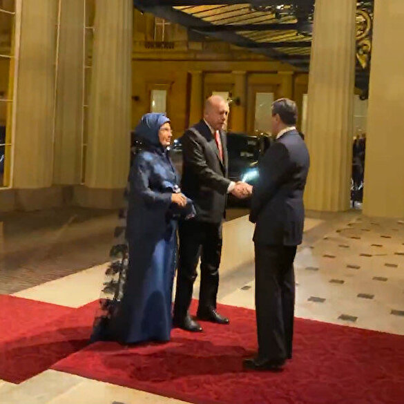 Cumhurbaşkanı Erdoğan Buckingham Sarayı'nda