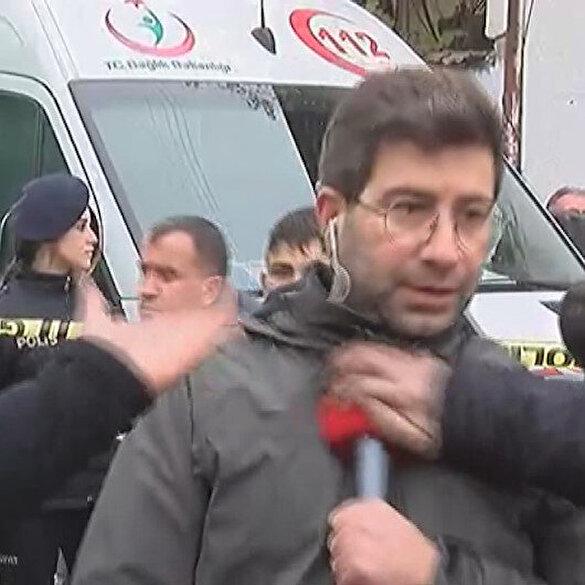 Muhabire canlı yayında saldırı