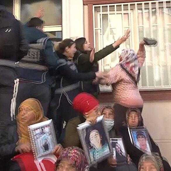 Evlat nöbetindeki aileler HDP'li vekilleri görünce sinir krizi geçirdi