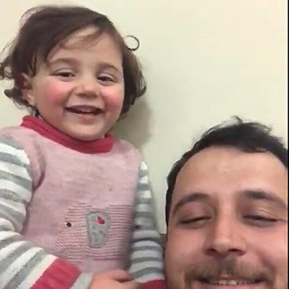 Suriyeli minik Selva'nın yürekleri burkan savaş oyunu