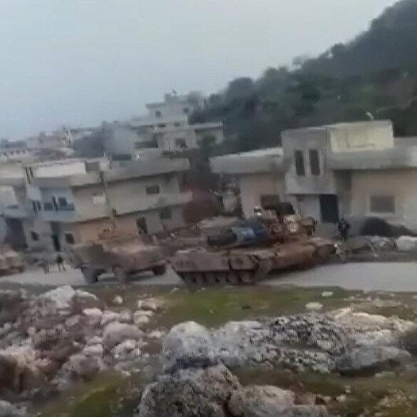 TSK konvoyu İdlib'in Cabal el Zaviye bölgesinde görüntülendi