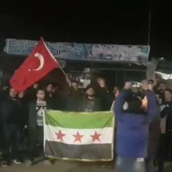 İdlib halkından TSK'ya destek